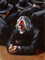 Untitled II Study X by Fabian Perez - Original Painting on Stretched Canvas sized 12x16 inches. Available from Whitewall Galleries